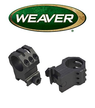 "Anillas Weaver 6 Hole Skeleton de 1"" mate - Extra Altas"