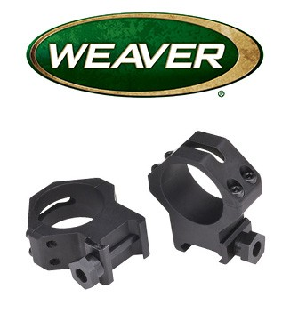 Anillas Weaver 4 Hole Skeleton de 30mm mate - Bajas