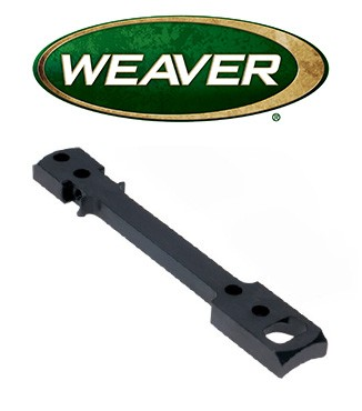 Base Weaver Dovetail de acero mate para Remington 700 LA & Weatherby Vanguard