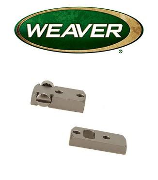 Base Weaver Dovetail de acero niquelado para Remington 700 & Weatherby Vanguard