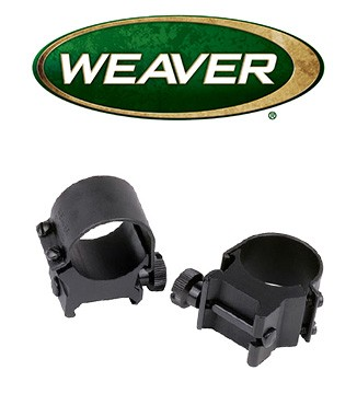 "Anillas desmontables Weaver Top Mount de 1"" - Bajas"