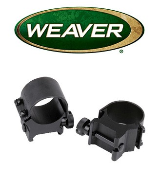 "Anillas desmontables Weaver Top Mount de 1"" mate - Altas"