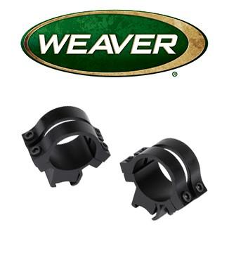 """Anillas desmontables Weaver Quad Lock de 1"""" mate - Extra altas"""