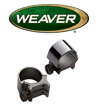 "Anillas desmontables Weaver Top Mount de 1"" - Altas"