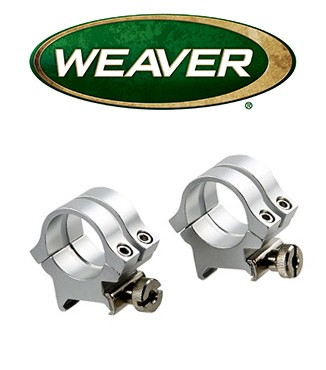 "Anillas desmontables Weaver Quad Lock de 1"" cromadas - Medias - Carril 11mm"