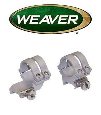 "Anillas extendidas desmontables Weaver Quad Lock de 1"" cromadas - Altas"
