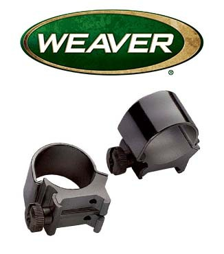 "Anillas desmontables Weaver Top Mount de 1"" - Medias"