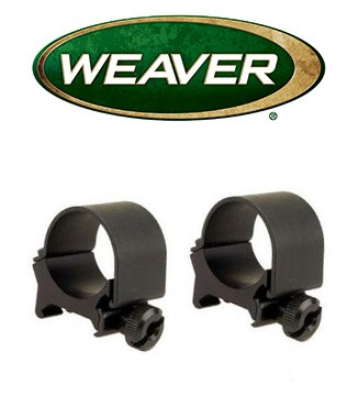 Anillas desmontables Weaver Top Mount de 30mm mate - Bajas