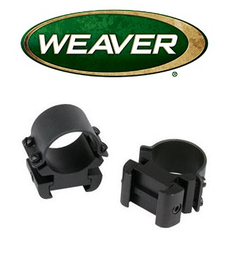 "Anillas Weaver Sure Grip Windage de 1"" mate - Medias"