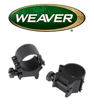 "Anillas desmontables Weaver Sure Grip de 1"" mate - Medias"
