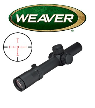 Visor Weaver Tactical 1-5x24 de 30mm con retícula iluminada CIRT