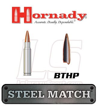 Cartuchos Hornady Steel Match .308 Winchester 155 grains BTHP