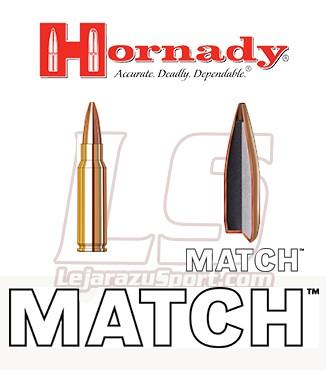 Cartuchos Hornady Match .308 Winchester 168 grains BTHP