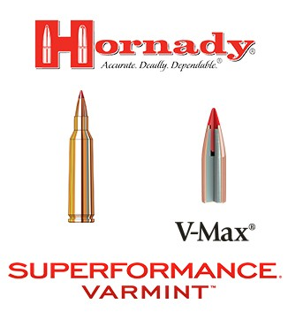 Cartuchos Hornady Superformance Varmint .22-250  Remington 50 grains V-Max