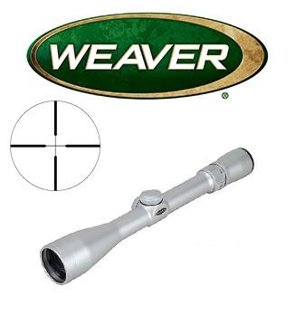 Visor Weaver Classic V 2-10x38 de 1'' cromado con retícula Dual X