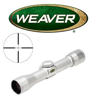 Visor Weaver Classic Handgun 2x28 de 1'' cromado con retícula Dual X