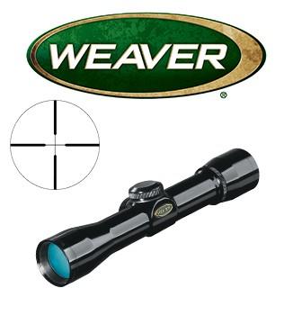 Visor Weaver Classic Handgun 4x28 de 1'' con retícula Dual X