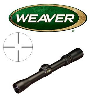 Visor Weaver Classic Rimfire 4x28 de 1'' con retícula Dual X