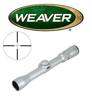 Visor Weaver Classic Rimfire 2,5-7x28 cromado de 1'' con retícula Dual X