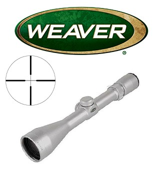 Visor Weaver 40/44 3-10x44 de 1'' cromado con retícula Dual X