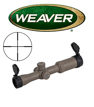 Visor Weaver Kaspa Tactical 1,5-6X32 oscuro de 30mm con retícula iluminada IRB X