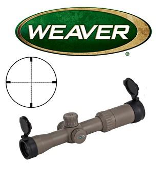 Visor Weaver Kaspa Tactical 3-12x44 Dark Earth de 30mm con retícula iluminada EMDR