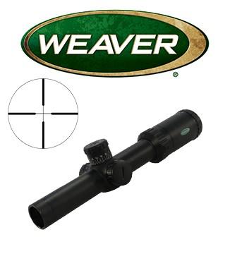 Visor Weaver Kaspa Tactical 1-4x24 de 30mm con retícula iluminada Dual X