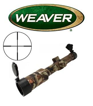 Visor Weaver Kaspa 1-4x24 Mossy Oak de 30mm con retícula Ballistic X