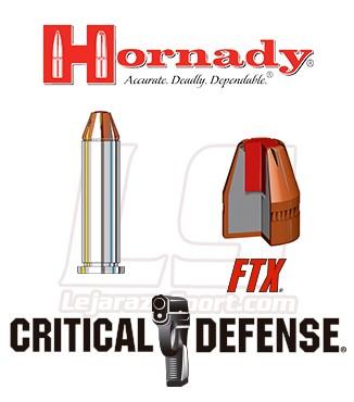 Cartuchos Hornady Critical Defense .357 Magnum 125 grains FTX