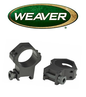 "Anillas Weaver 4 Hole Tactical Picatinny de 1"" mate - Altas"