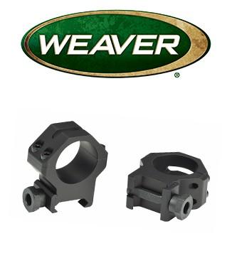 Anillas Weaver 4 Hole Tactical Picatinny de 30mm mate - Medias
