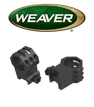 "Anillas Weaver 6 Hole Tactical Picatinny de 1"" mate - Extra Altas"