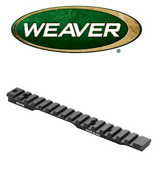 Base extendida Weaver Tactical Multi Slot de 20 MOA y aluminio para Remington LA