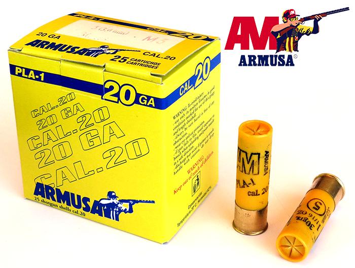 Cartuchos Armusa calibre 20/70 PLA-1 Baby Mágnum 32 gramos