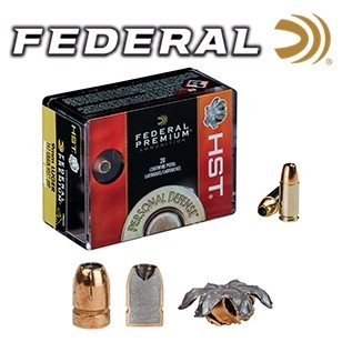 Cartuchos Federal Hydra Shok HST 9mm Luger 147 grains JHP