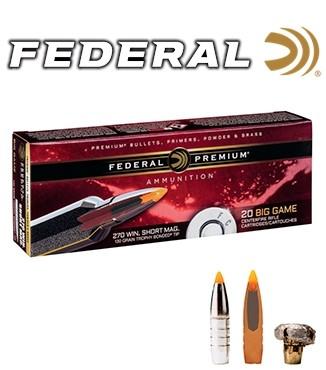 Cartuchos Federal Trophy Bonded Tip .270 WSM (Winchester Short Magnum) 130 grains Trophy Bonded Tip
