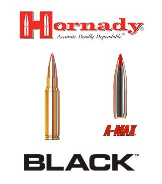 Cartuchos Hornady Black .308 Winchester 155 grains A-Max