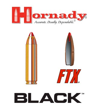 Cartuchos Hornady Black .450 Bushmaster 250 grains FTX