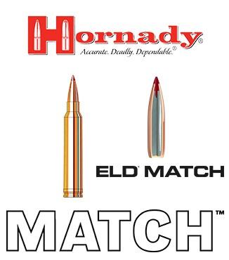 Cartuchos Hornady Match .300 Winchester Magnum 178 grains ELD Match