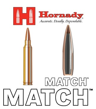 Cartuchos Hornady Match .300 Winchester Magnum 195 grains BTHP