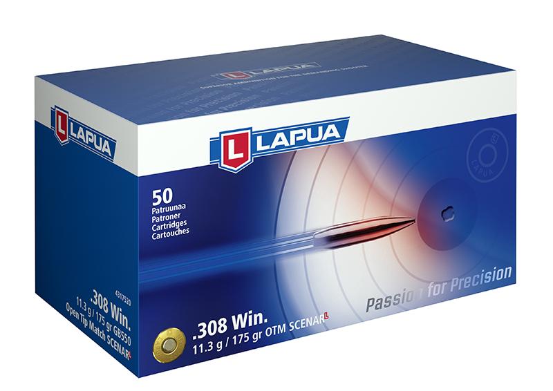 Cartuchos Lapua Scenar L .308 Winchester 175 grains