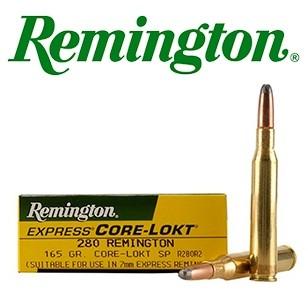 Cartuchos Remington .280 Remington 165 grains Core Lokt