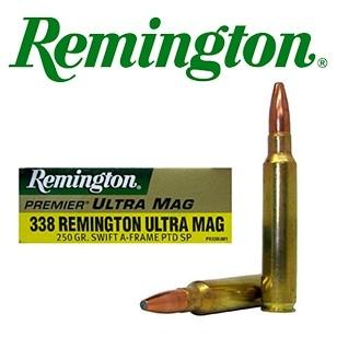 Cartuchos Remington Safari Grade .338 Remington Ultra Magnum 250 grains A-Frame