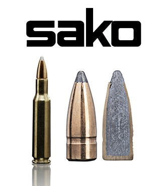 Cartuchos Sako .222 Remington 55 grains Gamehead (ammo)