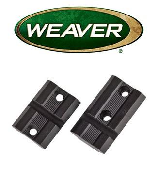 Par de bases Weaver Top Mount de aluminio mate para Ruger 10/22