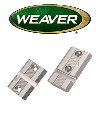 Par de bases Weaver Top Mount de aluminio cromado para Remington 700