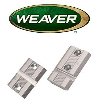 Par de bases Weaver Top Mount de aluminio cromado para Savage 110 con AccuTrigger