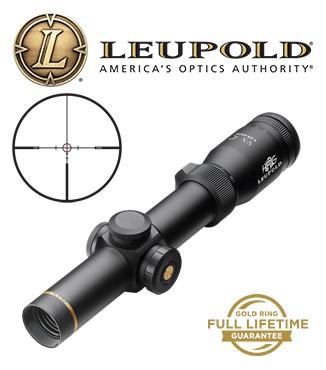 Visor Leupold VX-R HOG 1,25-4x20mm de 30mm mate con retícula Firedot Pig Plex