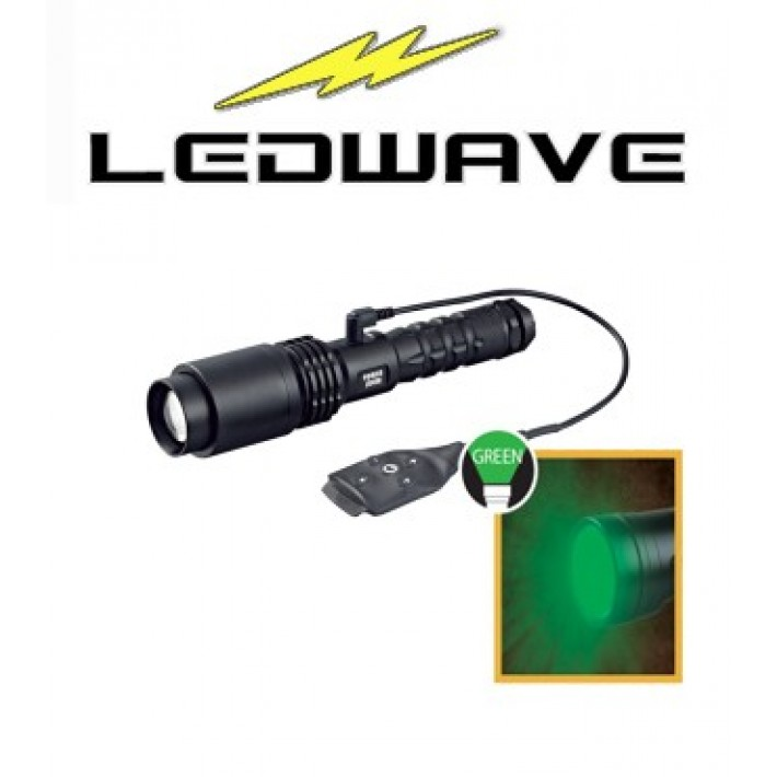 Linterna Ledwave Power Zoom Verde