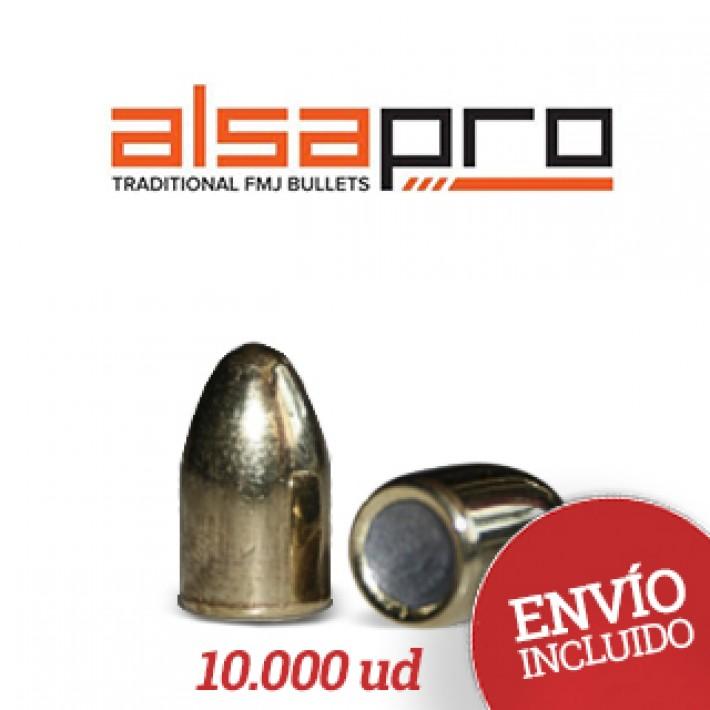 Puntas Alsa Pro FMJ 9mm (.355) - 115 gr 10.000 unidades